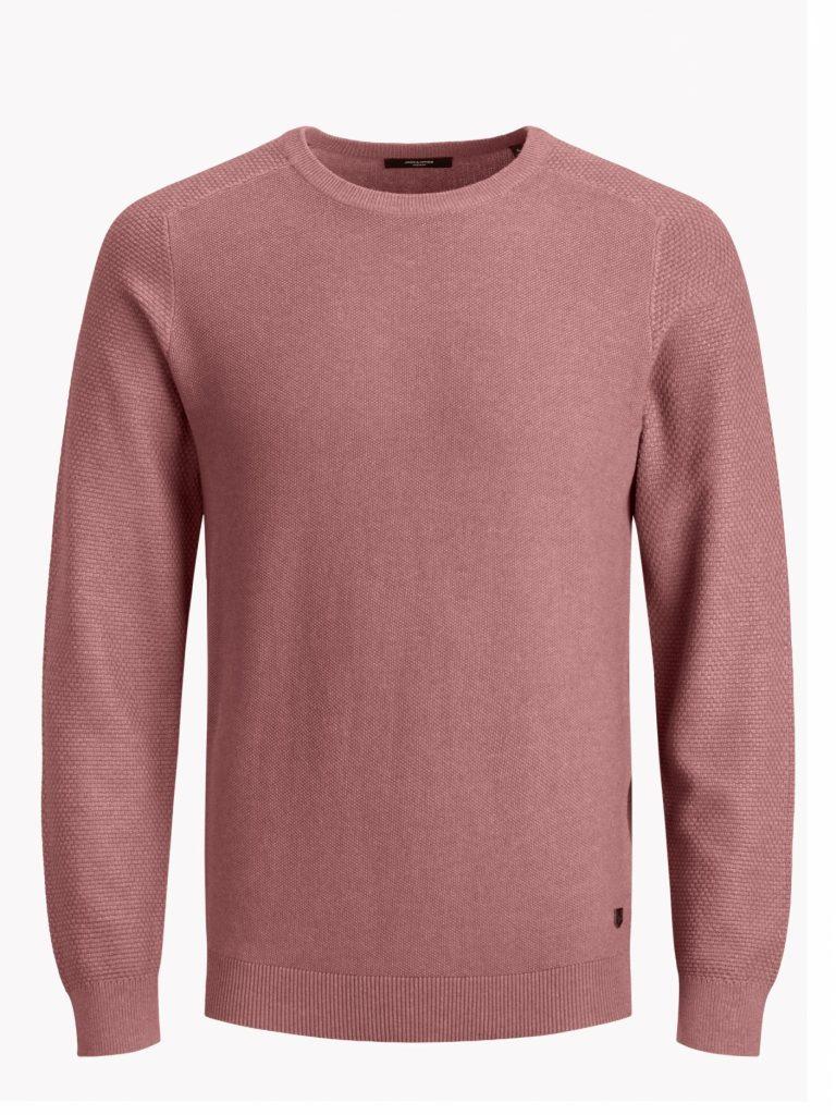JACK&JONES knit crew neck soft pink