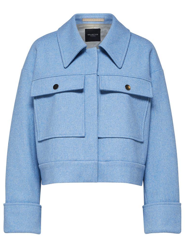 SELECTED femme wool jacket della robbia