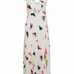 SELECTED femme dress bright white/aop