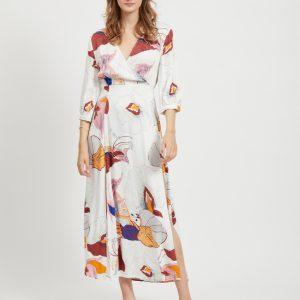 OBJECT 3/4 long dress gardenia/flower