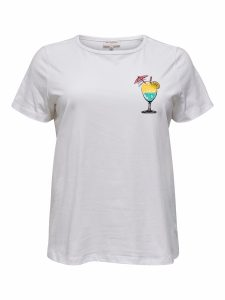 ONLY carmakoma ss tee bright white