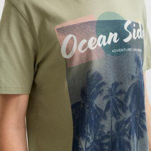 SELECTED homme ss o-neck tee tea/ocean s