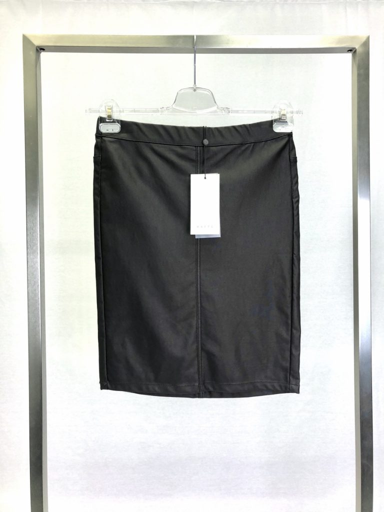 KAFFE skirt coated black coffee