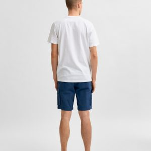 SELECTED homme ss o-neck tee bright white/no bad