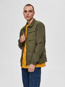 SELECTED homme shirt jacket grape leaf