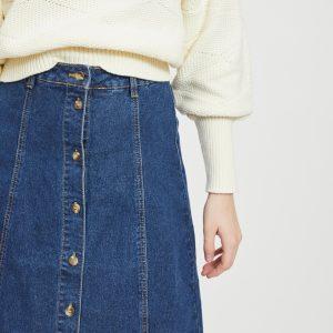 OBJECT hw denim skirt blue