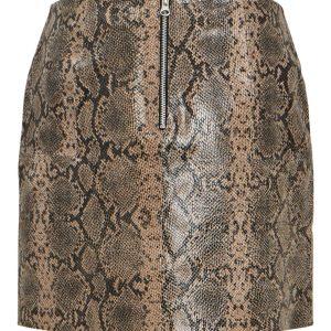 OBJECT mw leather short skirt humus