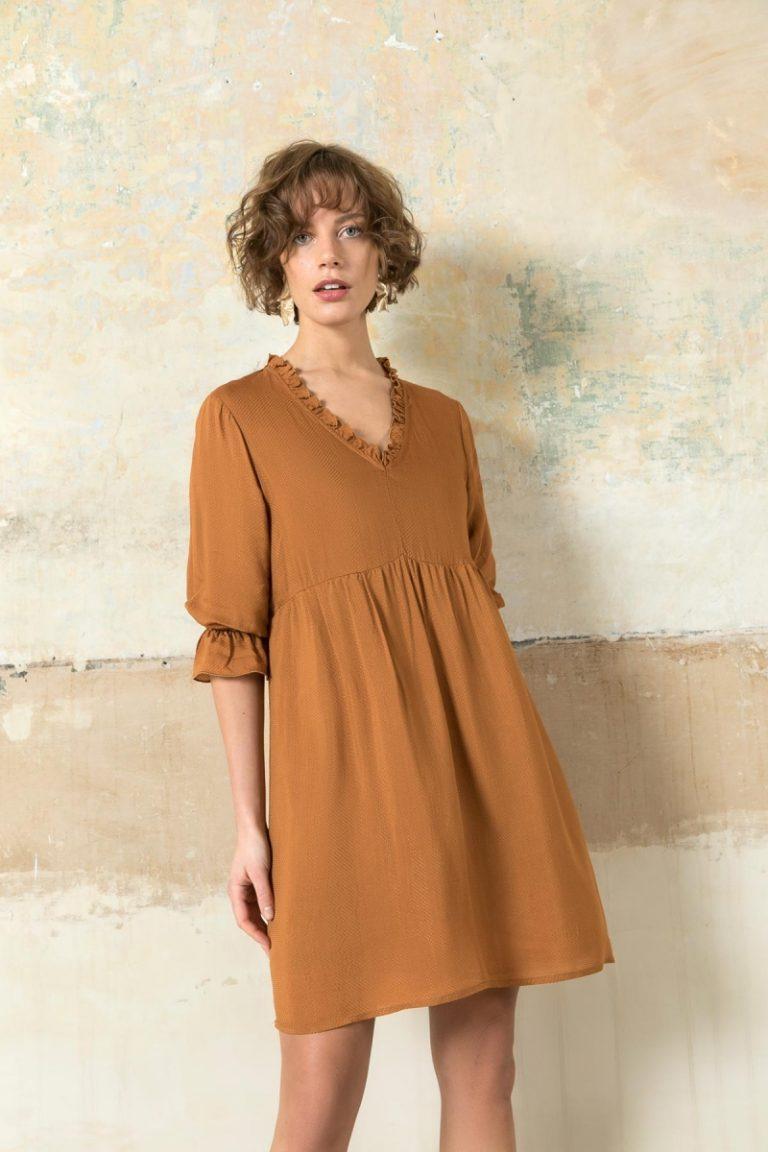 H20 italia dress mostarda