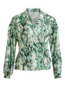 OBJECT ls wrap blouse gardenia/snake