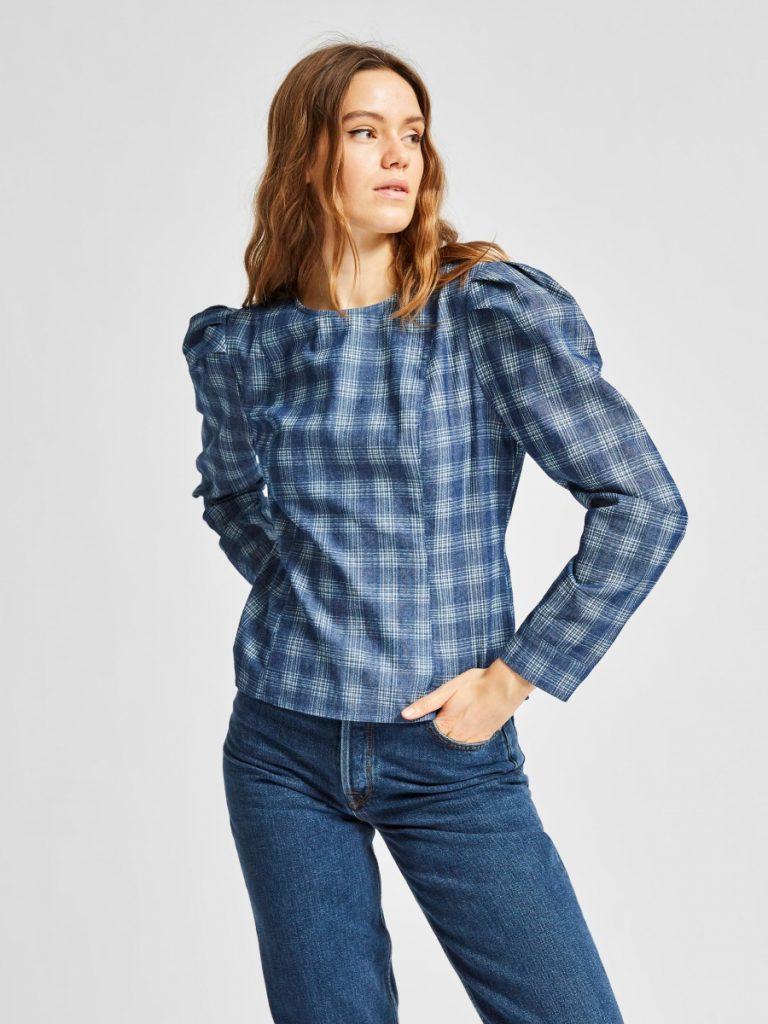 SELECTED femme ls shirt md blue denim