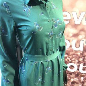 MIRACLES ls dress greenbirds