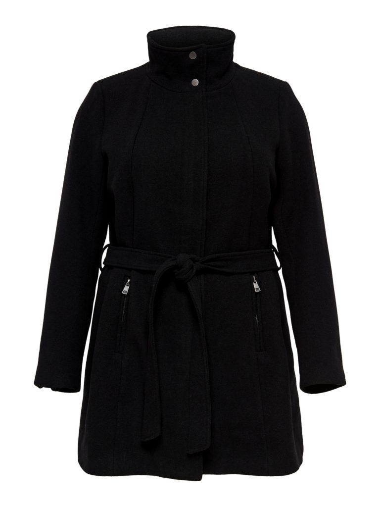 ONLY CARMAKOMA wool coat black
