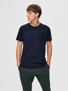 SELECTED homme ss o-neck tee sky captain