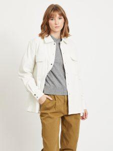 OBJECT ls shirt jacket gardenia