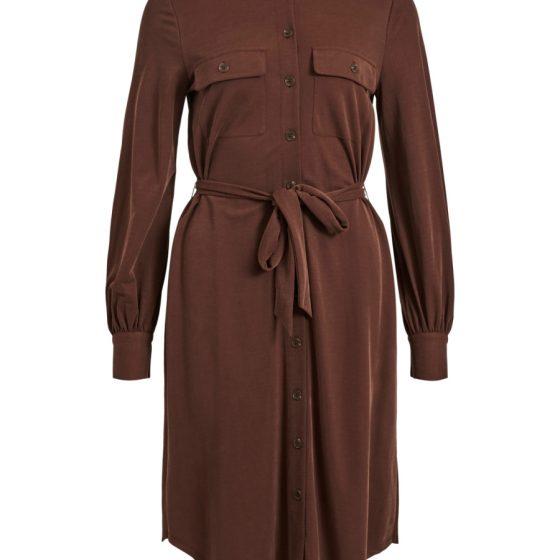 OBJECT ls shirt dress chocory coffee