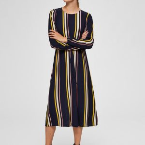 SELECTED femme ls ancle dress night sky/stripes