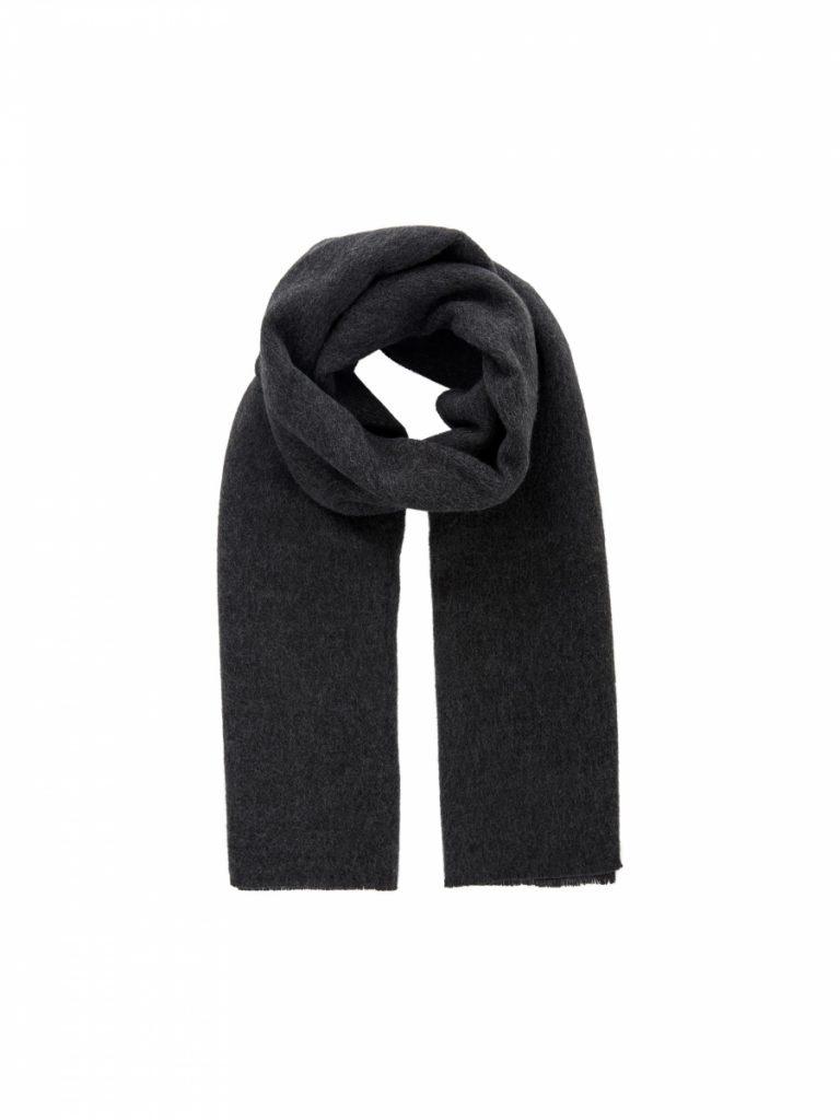 PIECES long scarf dark grey
