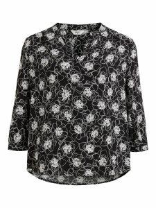 OBJECT 3/4 blouse black/contrast f