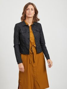 OBJECT coated jacket black